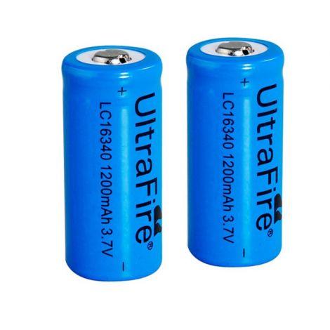 2x Ultrafire 16340 batterijen